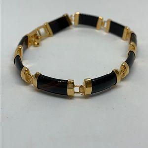 Onyx gold bracelet